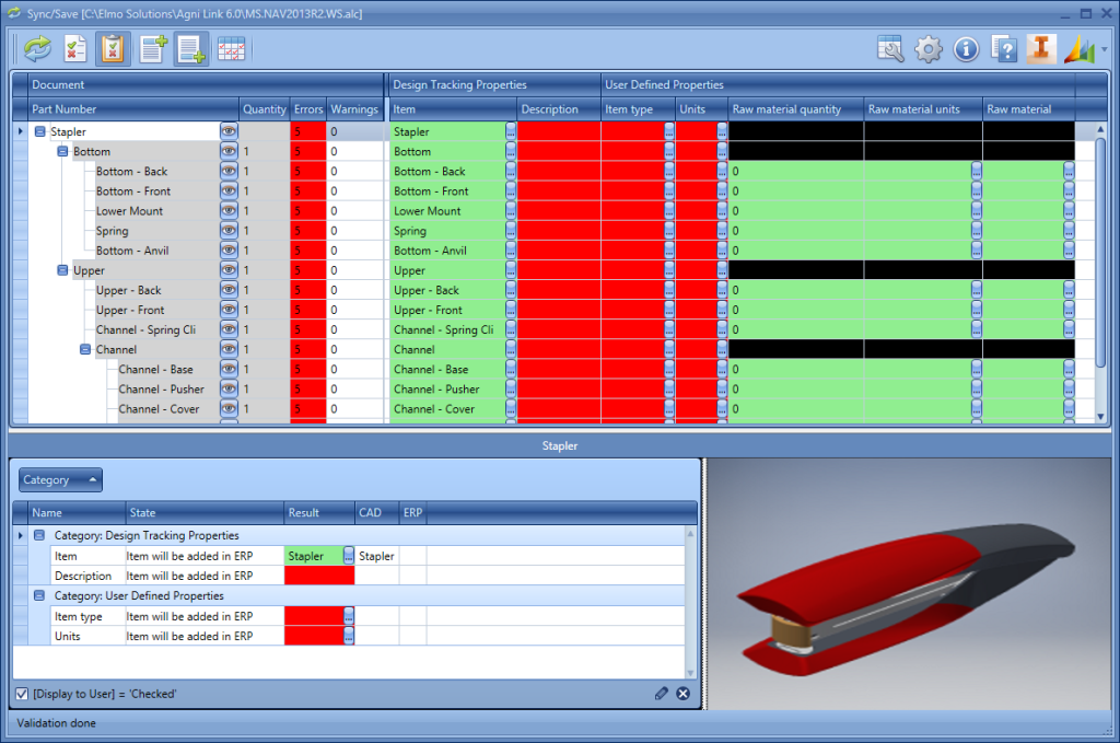 The Powerful Agni Link CAD-ERP Data Integration Dashboard